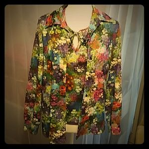Vintage Seventies Psychedelic Floral Twinset